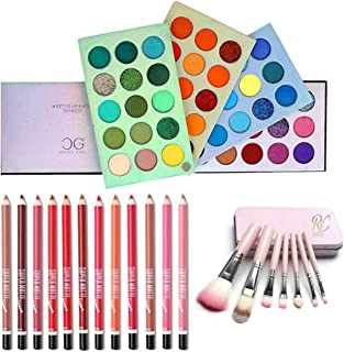 BTN Eyeshadow Palette 60 Color Makeup Palette Highlighters Eye Make Up Mattes and Shimmers With 12 Pcs Multicolour Matte L...