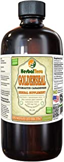 Goldenseal (Hydrastis Canadensis) Tincture, Organic Dried Roots Liquid Extract (Brand Name: HerbalTerra, Proudly Made in USA) 32 fl.oz (0.95 l)