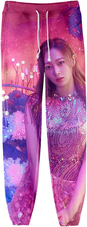 SIAOMA South Korean Kpop Group 3D Pants Aespa Sweatpants for Boys Girls