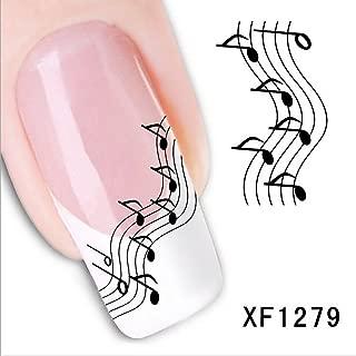 music note nail polish