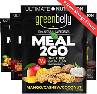 Greenbelly Backpacking Meals - Backpacking Food, Appalachian Trail Food Bars, Ultralight, Non-Cook, High-Calorie, Gluten-Free, Ready-to-Eat, All Natural Meal Bars (Variety - 4 Meals)