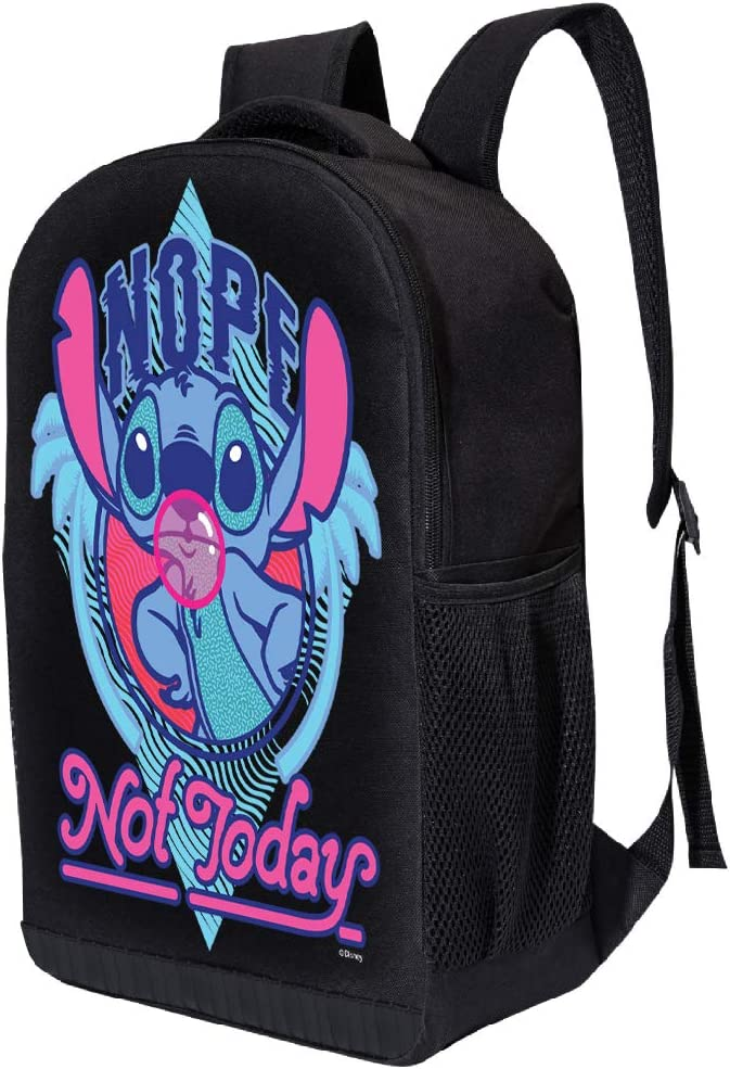 Lilo /& Stitch Nope Not Today 17 Inch Air Mesh Padded Bag Disney Lilo and Stich Backpack Nope not today