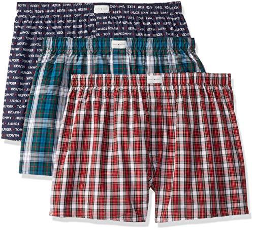 Tommy Hilfiger Herren Underwear Multipack Cotton Classics Woven Boxer Boxershorts, Abendblau, 3er-Pack, Small