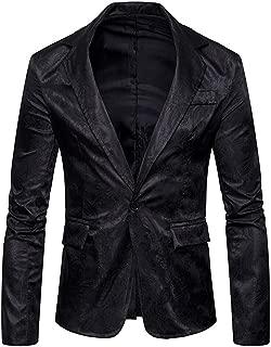 MAGE MALE Men's Floral Luxury Party Dress Suit Stylish Dinner Jacket Wedding Blazer Prom Tuxedo