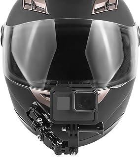 Rora - Soporte de Casco para cámara de acción GoPro Hero Barbilla de Motocicleta Parte Delantera Almohadillas Adhesivas Laterales Color Full Set