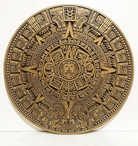 Calendario Azteca Pared Tallado en Madera para Decoracion Hogar - 48 cm
