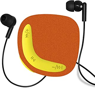 VZ SPORT MATE MP3 Music Player with Clip Built-in 8GB Flash Memory with Shuffle Function, Compact and Portable MP3 for Sports Ultra Light Design with Micro SD Card Slot(Orange)