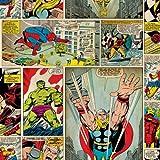 Marvel Comics décoller le papier peint
