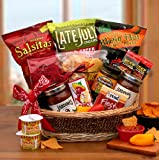 A Little Spice Gourmet Salsa & Chips Gift Basket - Makes a Great Fathers Day, Birthday, Holiday or Any Occasion Gift