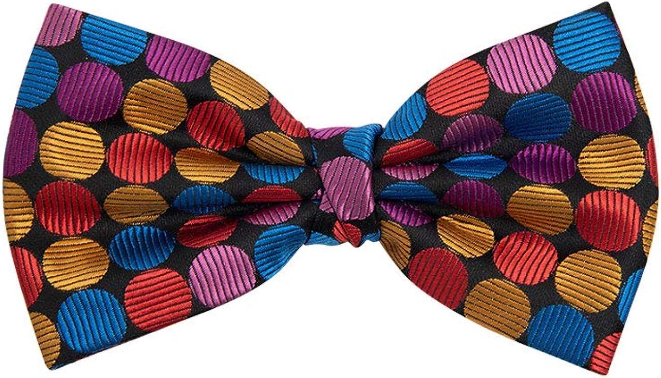 Dobell Mens Multi-Colored Spot Bow Tie Pre-Tied