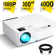 Projector, CiBest Native 1080p LED Video Projector 6000 Lux, 300 Inch Image Display Ideal..