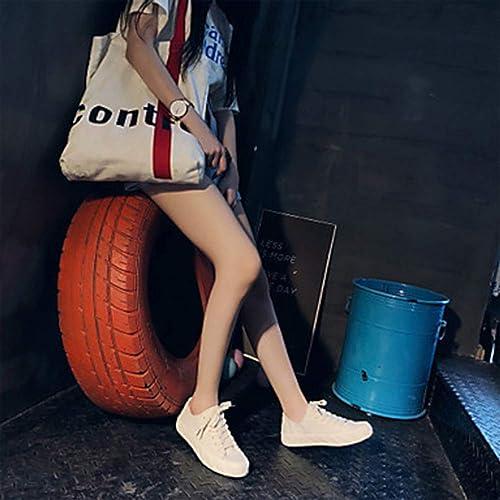 TTchaussures Femme Chaussures Toile Printemps été Confort Basket Basket Marche Talon Plat Bout Rond Violet Bleu   Rose,Beige,US7.5 EU38 UK5.5 CN38  meilleurs prix