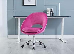 Velvet Swivel Home Office Desk Chair, Modern Task Chair with Special Lumbar Support Design, Modern Leisure Computer Chair ...