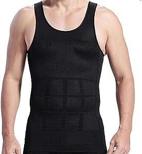 RujulWear Men Body Slimming Tummy Shaper Vest Belly Waist Girdle Shirt Underwear Shapewear