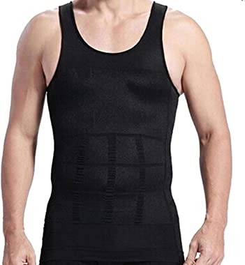 RujulWear Men Body Slimming Tummy Shaper Vest Belly Waist Girdle Shirt Underwear Shapewear