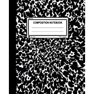 """Unruled Composition Notebook: 100 unruled pages [50 sheets], 7.5"""" x 9.25, black marble,..."""