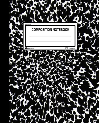Unruled Composition Notebook: 100 unruled pages [50 sheets], 7.5