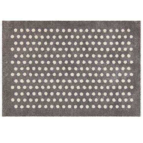 Akzente Wash+Dry Small Dots - Felpudo (50 x 70 cm), diseño de lunares, color plateado