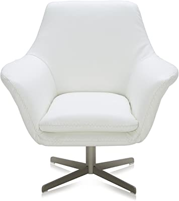 Amazon.com: Zuri Furniture Mora - Sillón giratorio (piel ...