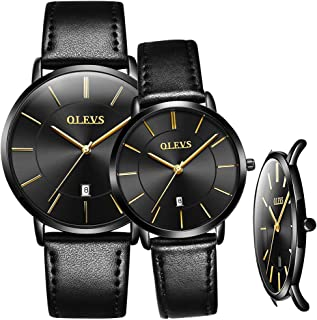 Couples Watches for Men and Women Ultra Thin Quartz AnalogWrist Watches Casual Stainless Steel His and Hers