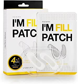 KARATICA I'M FILL PATCH, for Dark Circle, Eye Puffiness, Wrinkles and fine lines, Smile lines, Hyaluronic Acid, Microneedle Patch, Moisturizing, Eye filler patch, 5 pairs