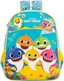 Mochila 16 Baby Shark Family - 9032 - Artigo Escolar Baby Shark, Azul