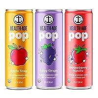 Deals on 12 Pack Health-Ade Pop Vegan Organic Prebiotic Soda 12 Fl Oz