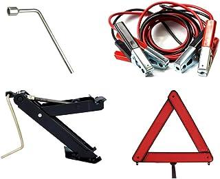 Kit Estepe Para Carro/Macaco Joelho + Chave De Roda 17mm + Triângulo + Cabo Auxiliar