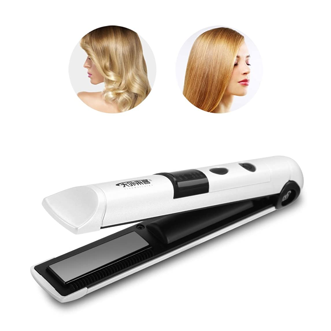 Wireless curling iron, mini rechargeable straight hair/curling iron, portable curl/straight hair for hairstyles 3 colors (1#)