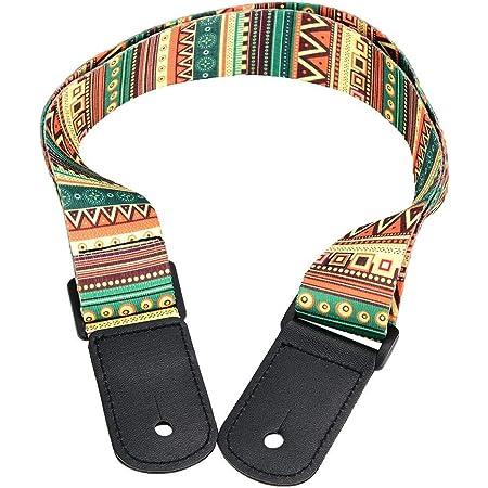 Correa de hombro ajustable de ukelele Correa de hombro de 4 cuerdas Hawaii Guitarra de moda Hecho de tela tejida y plástico para todos los tamaños de ukeleles para conciertos y otras ocasiones