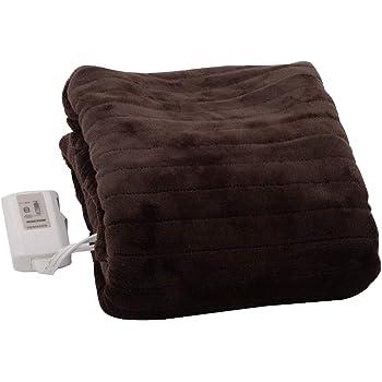 [山善] ふわふわもこもこ 電気敷毛布 (丸洗い可能) 140×80cm 表面フランネル・裏面プードルタッチ仕上げ YMS-F33P(T) [メーカー保証1年]