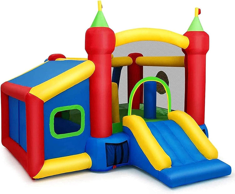 WXHHH Castillo Hinchable para niños de 3 a 10 años, con 6 Tipos de Juego Diferentes, Tejidos ecológicos Oxford, 380 x 305 x 215cm