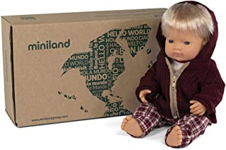 Anatomically Correct Baby Doll & Outfit Set, Caucasian Boy - 38cm