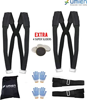Moving & Lifting Straps to Carry Heavy Objects, Appliances & Furniture Two Person Pain-Free Moving Dolly - Extra 4 Gloves, Storage Bag & 4 Super-Sliders