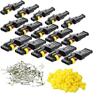 KINYOOO 15 Pcs Electrico Impermeable Conector, Conectores Sellado Impermeable Sellado Impermeable 2, 3, 4 Canales Pin para Coche Motos