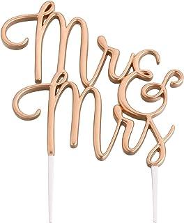 زمام السيدة روز جولد من ليليان مقاس 12.06 سم × 13.34 سم زينة كعكة الزفاف