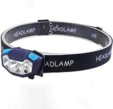 Koplamp Mini Oplaadbare LED Koplamp Body Bewegingssensor Koplamp Camping Zaklamp Hoofd Licht Torch Lamp Met USB Zwart