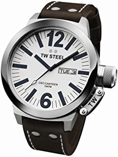 TW Steel Men's CE1006 CEO Brown Leather Strap Watch