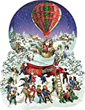 Old Fashioned Snow Globe Merry Christmas Shaped 1000 pc Jigsaw Puzzle by SunsOut
