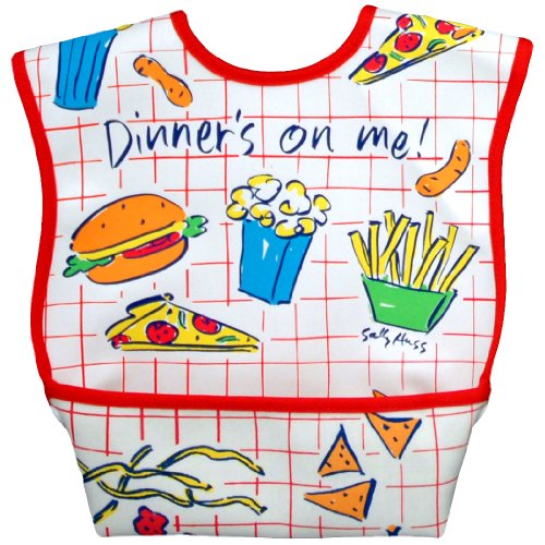 Dex Dura Bib Large for ages 6 - 24 Months - Dinner's on Me