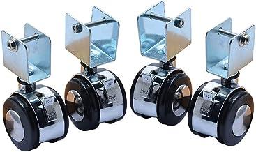 ATATMOUNT 4 Stks 2 Inch Crib Casters Kabinet Klem met Remwielen Nylon Meubels Hardware Fittings