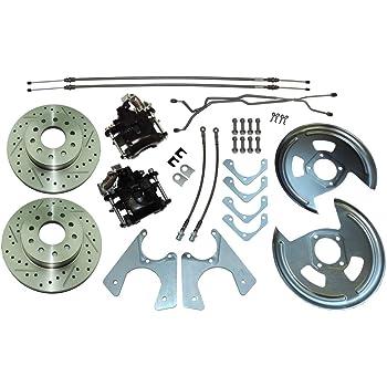 GM 10 /& 12 Bolt Rear Disc Brake Conversion Kit Drilled /& Slotted Rotors 4 Wheel