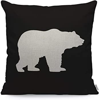 Old Bear Linen Throw Pillow