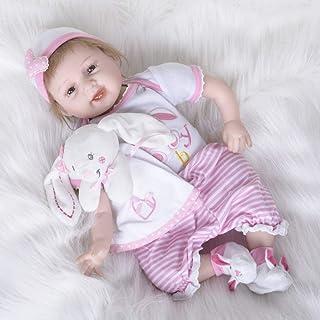 Lalka Rebirth Zabawka dla dzieci Silikonowa lalka symulacyjna 55 cm Brązowe oczy, 55 cm, Lalki Reborn
