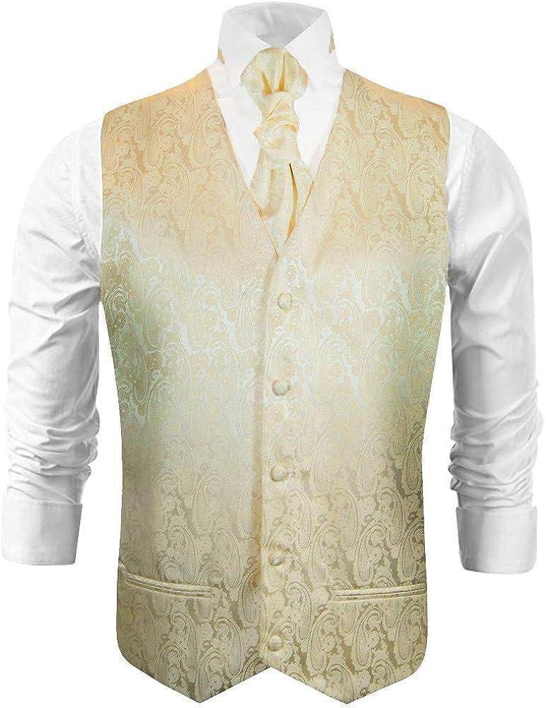 Paul Malone Champagne Paisley Wedding Vest Set