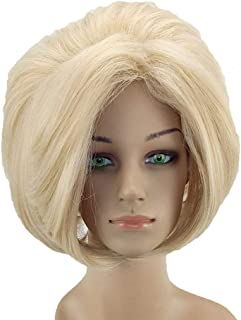 Synthetic Wig Straight Style Middle Part Capless Wig Blonde Blonde Synthetic Hair 12 inch Women039;s Adjustable/Heat Resistant/Women Blonde Wig Short hairjoy