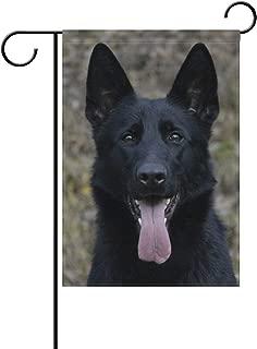 Black German Shepherd Dog Garden Flag Decor Outdoor 28 x 40 Inch Welcome House Yard