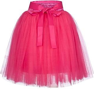 724ebb4727c FEDULK Womens Pleated Gauze Classic Retro 6 Layered Petticoat Ballet Bubble  Adult Tutu Dancing Skirt