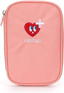 DYHOZZ Portable First Aid Kit Portable Mini Medicine Box Medicine Storage Bag Outdoor Medical Box (Color : Pink, Size : 18cm×12.5cm×2cm)