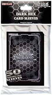 Konami KONDHCS Standard Back Yu-Gi-Oh-Dark Hex Card Sleeves (50 Pack)